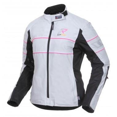 SPIDI P147 011 Evorider Leather Lady Damska kurtka motocyklowa skórzana czarno-biała