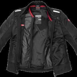 SPIDI P167 026 Garage Robust Męska skórzana kurtka motocyklowa czarna / duże rozmiary