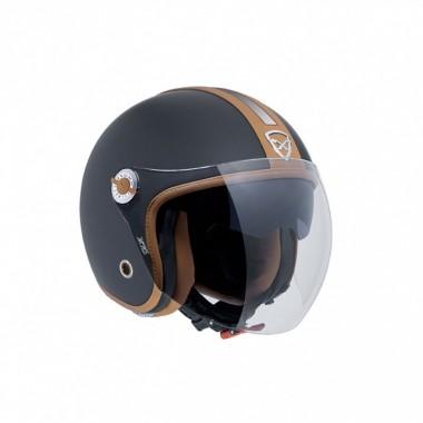 REV'IT DOMINATOR 2 GTX Skórzano-tekstylne spodnie turystyczne z membraną Gore-Tex czarne przedłużana nogawka