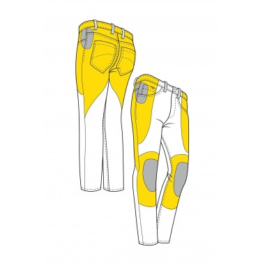REBELHORN OPIUM II RETRO LADY Damskie skórzane rękawice motocyklowe czarne