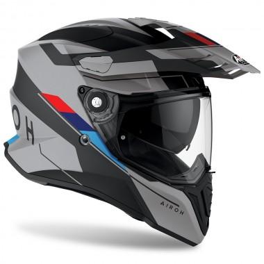 REV'IT BURN Tekstylna kurtka motocyklowa z kapturem czarno-biała