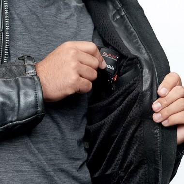 REV'IT STRATOS GTX Ocieplane skórzano-tekstylne rękawice motocyklowe z membraną Gore-Tex czarne