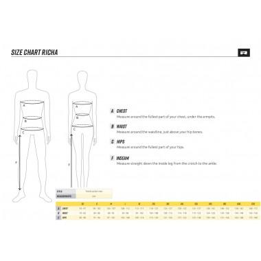 REV'IT GEAR 2 Męskie skórzane spodnie motocyklowe czarne