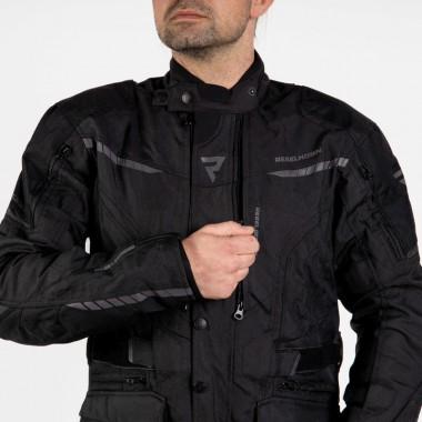 REBELHORN GAP II CE Skórzano-tekstylne rękawice motocyklowe czarne