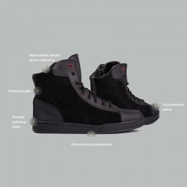 BOS BOLDOR Skórzane rękawice motocyklowe czarne