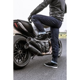 BOS REISE Skórzane rękawice motocyklowe czarne