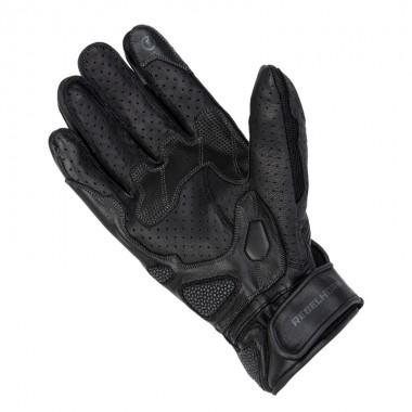 REV'IT Mosca Sportowe skórzane rękawice motocyklowe czarne