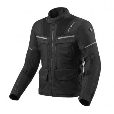 REV'IT Convex skórzana kurtka motocyklowa czerń z białymi akcentami