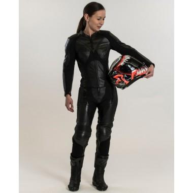 REV'IT Arc H2O kurtka motocyklowa czarna z czerwonymi elementami