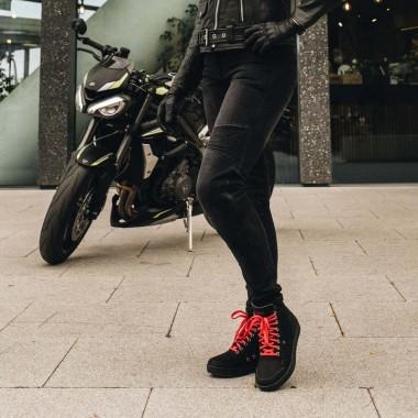 REV'IT Arc H2O Damska kurtka motocyklowa czarna z elementami w kolorze fuksji