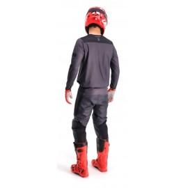RUKKA REALER Tekstylna kurtka motocyklowa z membraną Gore-Tex czarna z szarymi elementami
