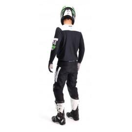 RUKKA EXEGAL Tekstylna kurtka motocyklowa z membraną Gore-Tex czarna z srebrnymi wykończeniami