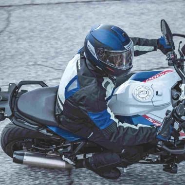 RUKKA YORKTON Skórzana kurtka motocyklowa czarna
