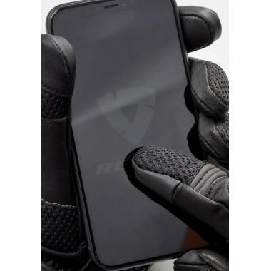 RUKKA FERNIE Skórzane rękawice brązowe