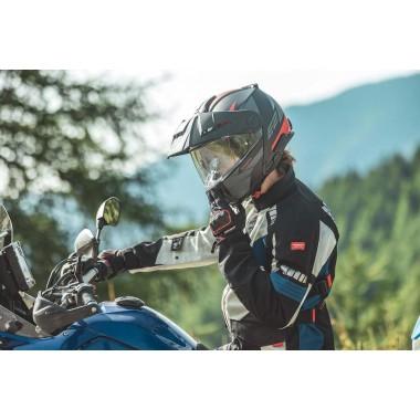 Spodnie skórzane SPIDI RR Pro Warrior Q39 czarno białe z neonowym wykończeniem