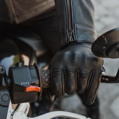 Rękawice skórzane Spidi Carbo 7 A210 czarno czerwono białe