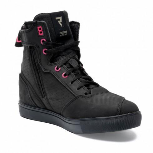 jeansowe spodnie motocyklowe z wbudowanymi ochraniaczami niebieski pmj deux