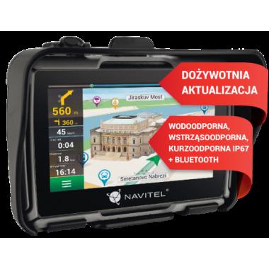RICHA CAMARGUE Tekstylne spodnie motocyklowe czarne/zielone fluo