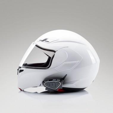 RICHA BALLISTIC Męska kurtka skórzana na motocykl sportowy biało/czarna