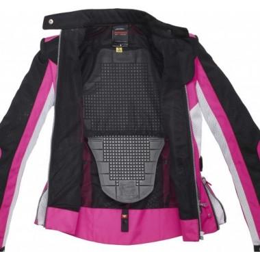 SPIDI P178 014 Ignite Skórzana męska kurtka na motocykl sportowy czarno-czerwona